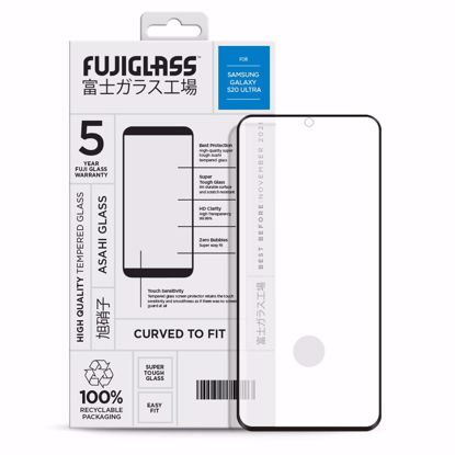 Picture of Fuji Fuji Curved-to-fit Screen Protector for Samsung Galaxy S20 Ultra in Clear/Black